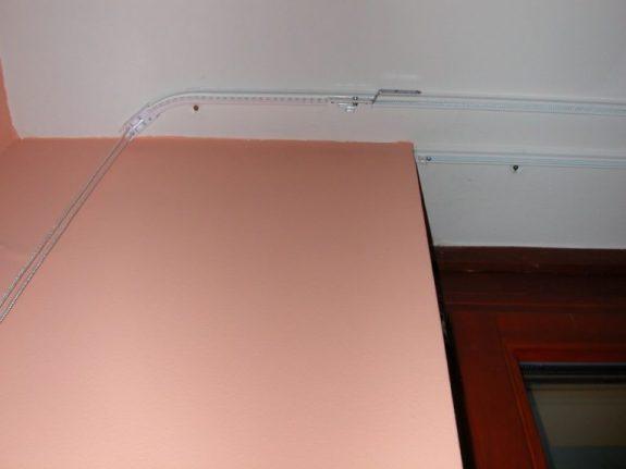 2-sínes alu karnis nehéz függönyökhöz, véghajlítással
