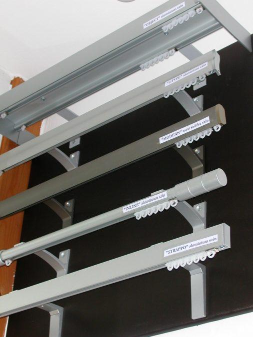 Modern belső csúszású alumínium karnisok