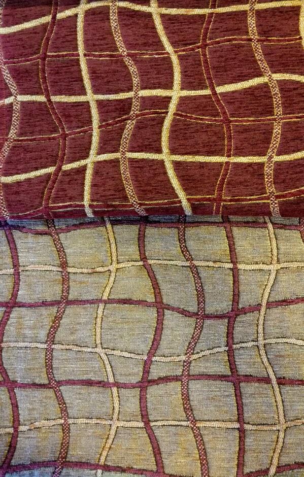 Judy zsenília bútorszövet bordó barna