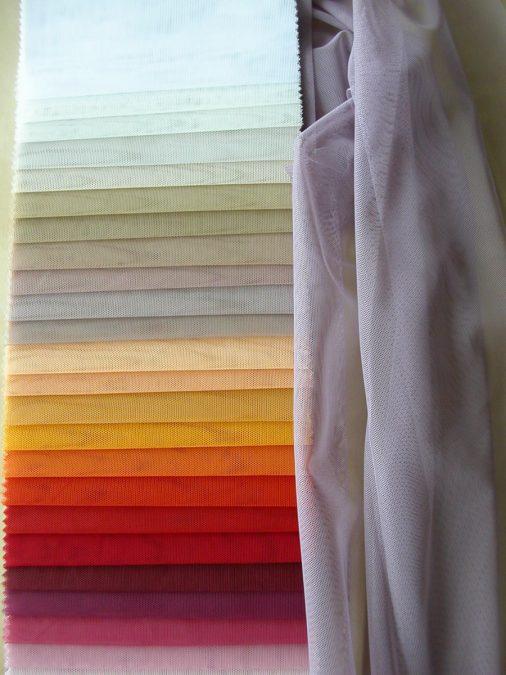 Krt.38505. Egyszínű tüll függöny
