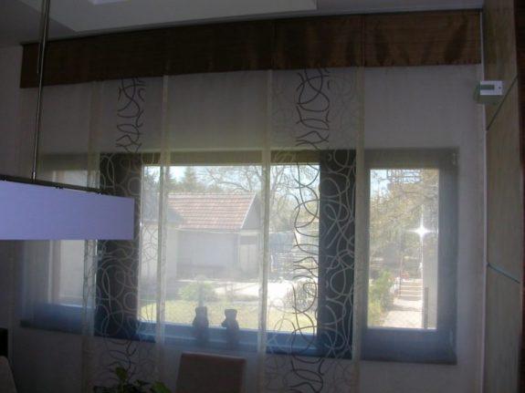 3-sínes, 5-panelos lapfüggöny szerkezet