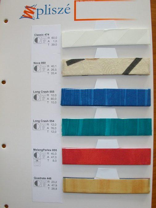 Mintás pliszé textil