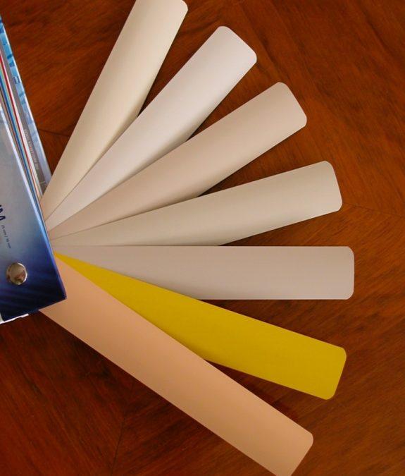 Bézs és sárga árnyalatú alumínium lamella színválaszték