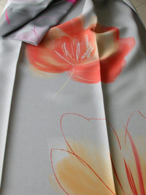 AMSZTERDAM virág mintás Dim out függöny