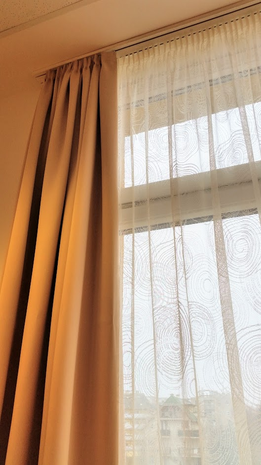Modern kör mintás jacquard függöny