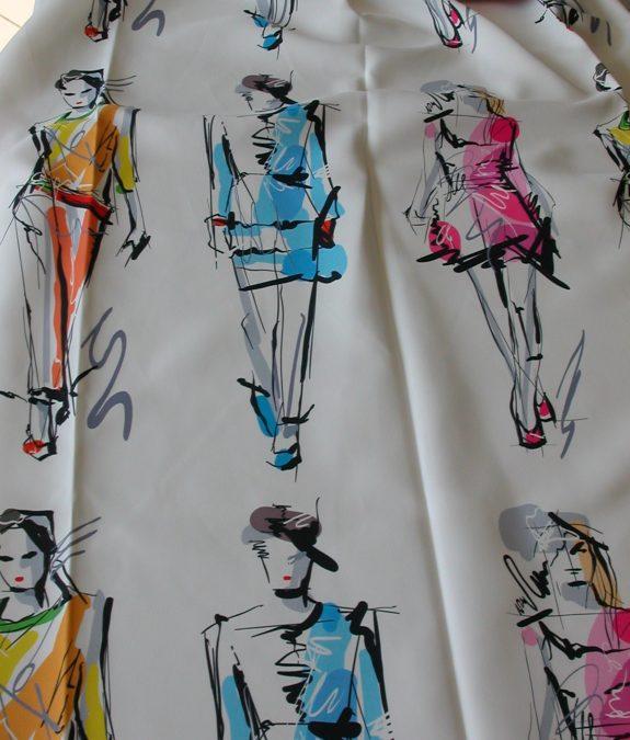 Fiatalos divat mintás szatén sötétítő függöny
