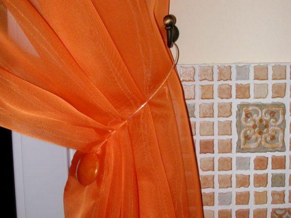 Punto mágneses függöny elkötő, narancs