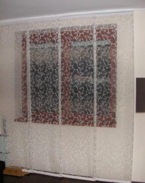 4–soros, 4–panelos lapfüggöny sín, zsinórmozgatással