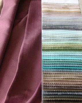 WISPY gyűrt fémes hatású szatén sötétítő függöny – Függönymester